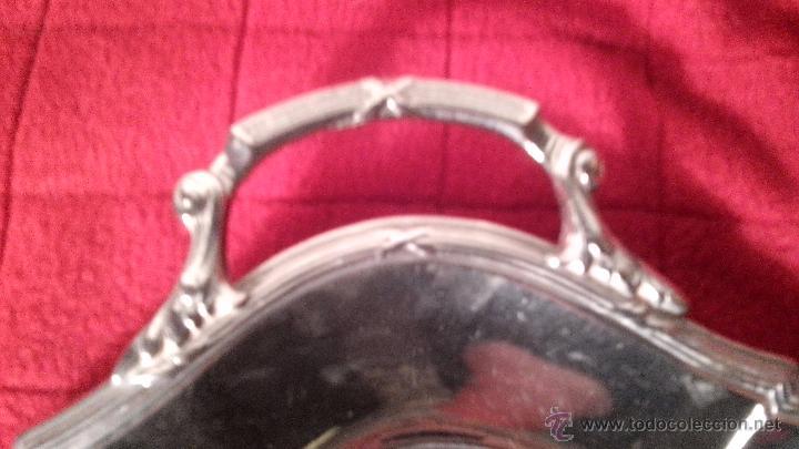 Antigüedades: ANTIGUO RECOGEMIGAS REALIZADO EN METAL ALPACA? LC400 - Foto 5 - 54987198
