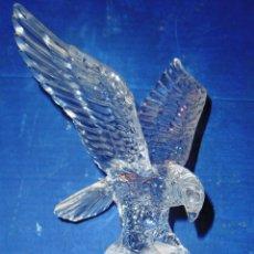 Antigüedades: ESPECTACULAR AGUILA CRISTAL ARQUES EN DOS TONOS BRILLANTE MATE 22 CMS. Lote 54989043