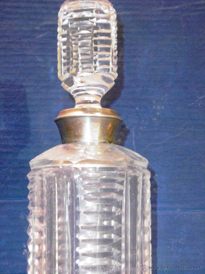 Antigüedades: SENSACIONAL BOTELLA DE LICOR EN CRISTAL TALLADO Y PLATA - Foto 3 - 54989435