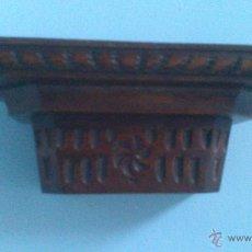 Antigüedades: MENSULA , PEANA , REPISA DE MADERA MACIZA. Lote 54990991