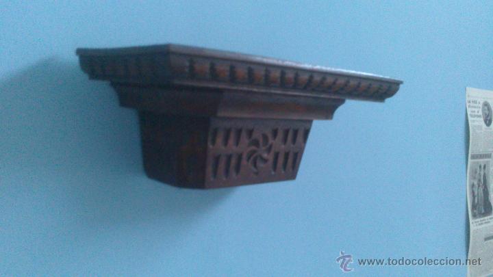 Antigüedades: mensula , peana , repisa de madera maciza - Foto 2 - 54990991