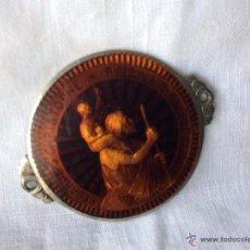 Antigüedades: SAN CRISTOBAL MEDALLA ESMALTADA,IDEAL COLECCIONISTAS EN LOS LATERALES TIENE DOS PEQUEÑOS AGUJEROS . Lote 54997746