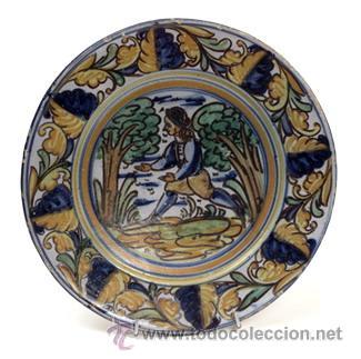 PLATO DE CERÁMICA DE TALAVERA (Antigüedades - Porcelanas y Cerámicas - Talavera)