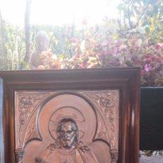 Antigüedades: ANTIGUO CUADRO CON JESUS. EN RELIEVE. Lote 54998732