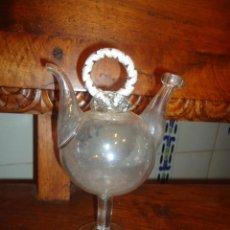 Antigüedades: BOTIJO CRISTAL SOPLADO CATALAN 21 CM. Lote 55012170