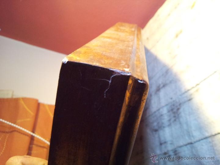 Antigüedades: gran abanico art deco en madera y papel decorado, con vitrina abaniquera policromada - Foto 8 - 55012411