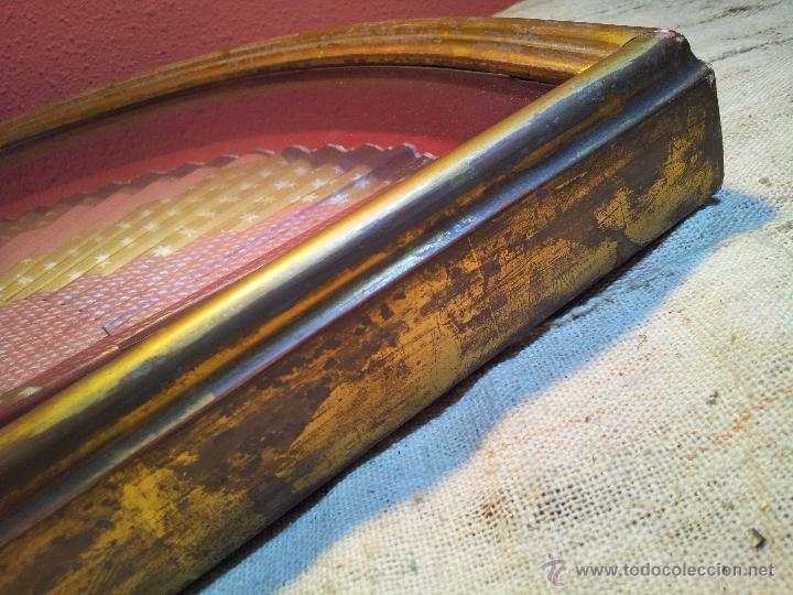 Antigüedades: gran abanico art deco en madera y papel decorado, con vitrina abaniquera policromada - Foto 19 - 55012411