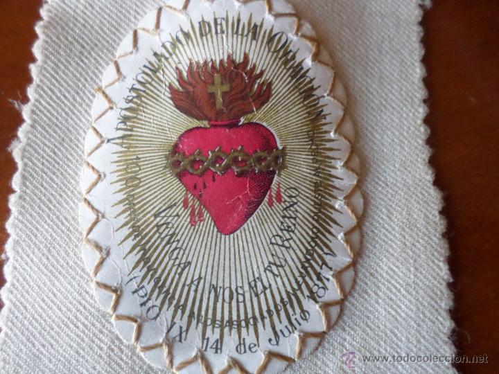 Antigüedades: ESCAPULARIO APOSTOLADO DE LA ORACION - Foto 3 - 55012718