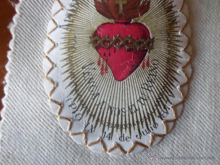 Antigüedades: ESCAPULARIO APOSTOLADO DE LA ORACION - Foto 4 - 55012718