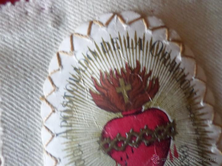Antigüedades: ESCAPULARIO APOSTOLADO DE LA ORACION - Foto 5 - 55012718