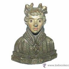 Antigüedades: ANTIGUO BUSTO POLICROMADO.. Lote 33737121