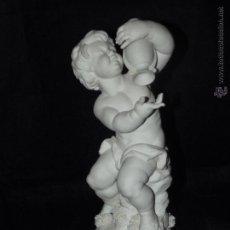 Antigüedades: FIGURA ACUARIO EN BISCUIT AUTÉNTICA PORCELANA ALGORA DOCUMENTADA. POCO FRECUENTE EN PERFECTO ESTADO. Lote 55014855