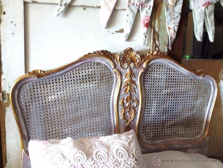 Antiguo cabecero de rejilla de estilo franc s comprar - Cabeceros de cama antiguos ...