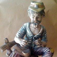 Antigüedades: ANTIGUA FIGURA EN PORCELANA CAPODIMONTE ITALIA. Lote 55020056