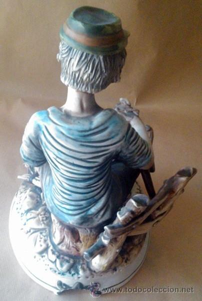 Antigüedades: ANTIGUA FIGURA EN PORCELANA CAPODIMONTE ITALIA - Foto 6 - 55020056