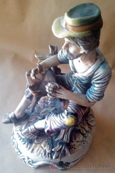 Antigüedades: ANTIGUA FIGURA EN PORCELANA CAPODIMONTE ITALIA - Foto 7 - 55020056
