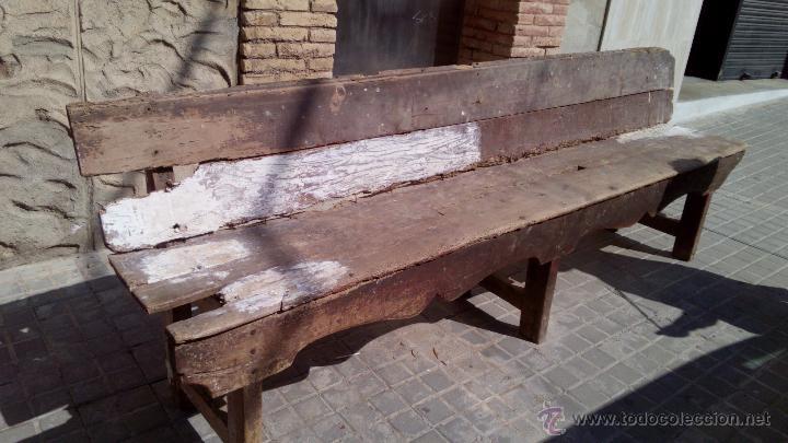 importante banco rustico. de madera. para resta - Comprar Sillones ...