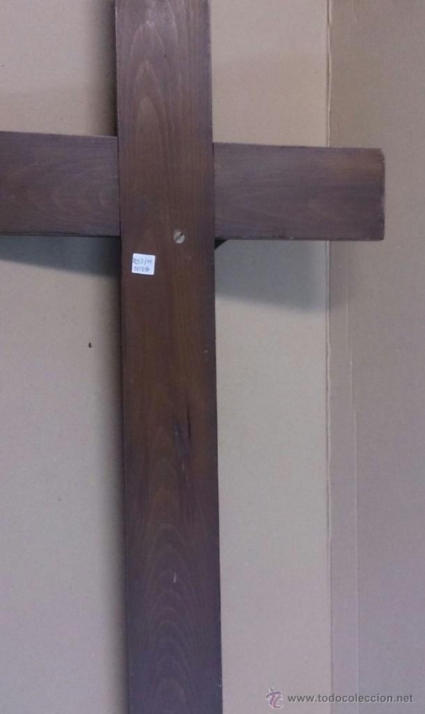 Antigüedades: Cruz en madera con cristo en bronce - Foto 2 - 55024032