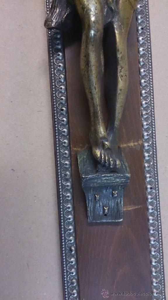 Antigüedades: Cruz en madera con cristo en bronce - Foto 4 - 55024032