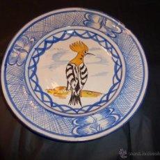 Antigüedades: PLATO DE MANISES PAJARO. Lote 55025808
