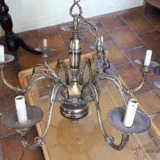 Antigüedades: LAMPARA BRONCE HOLANDESA DE 8 BRAZOS. Lote 55026068