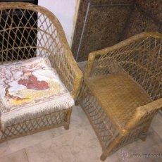 Antigüedades: LOTE 2 SILLONES DE MIMBRE - P5. Lote 55050272