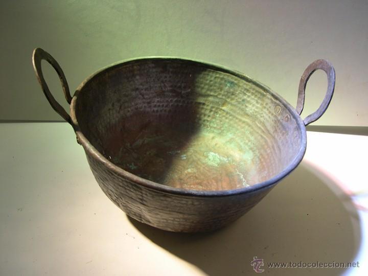 ANTIGUO PEROL DE COBRE (Antigüedades - Técnicas - Rústicas - Utensilios del Hogar)