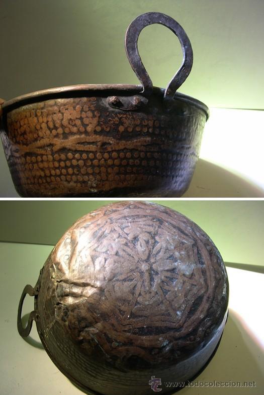 Antigüedades: ANTIGUO PEROL DE COBRE - Foto 2 - 55054337