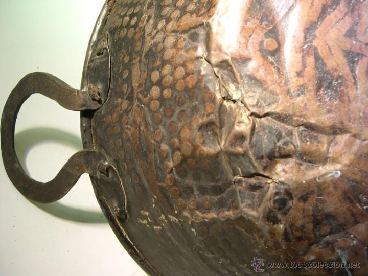 Antigüedades: ANTIGUO PEROL DE COBRE - Foto 3 - 55054337