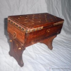 Antiguidades: ANTIGUO TOCADOR DE SOBREMESA PLEGABLE DEL SIGLO XIX - MUY RARO.. Lote 55057891