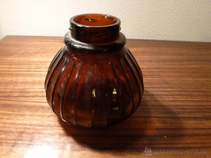 TARRO DE CRISTAL CARAMELO (Antigüedades - Cristal y Vidrio - Mallorquín)