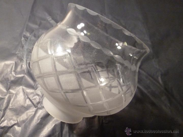 TULIPA DE CRISTAL 11*12*5.5 DE BOCA (Antigüedades - Iluminación - Otros)