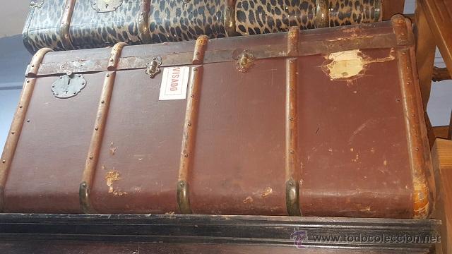 Baul de viaje para restaurar con las etiquetas comprar for Antiguedades para restaurar