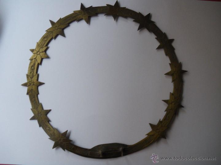 CORONA LATÓN PARA VIRGEN O SANTO CAP I POTA (Antigüedades - Religiosas - Varios)