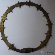 Oggetti Antichi: CORONA LATÓN PARA VIRGEN O SANTO CAP I POTA. Lote 55061757
