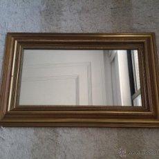 Antigüedades - Precioso Espejo con moldura dorada de madera. 61 x 38 ctms - 55063590