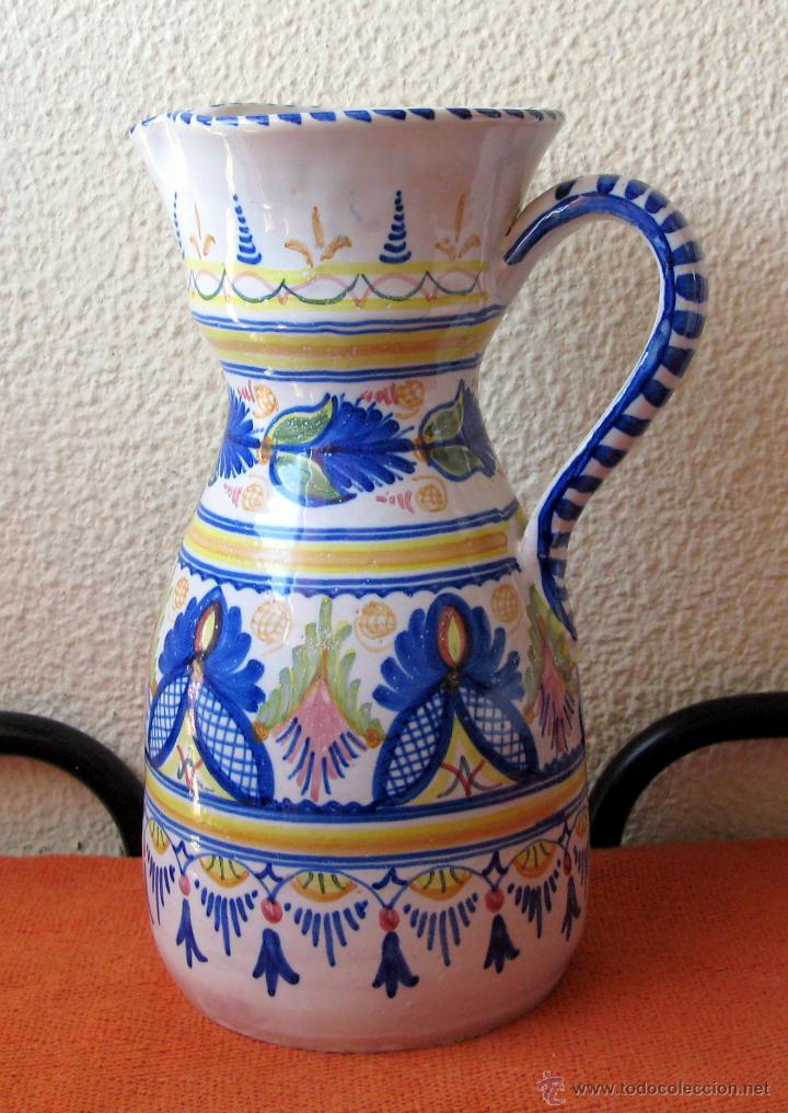 Antigüedades: Gran Jarrón de Talavera con Decoración Grecas, Flores y Guirnaldas.Firmado - Foto 6 - 55067353