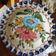 Antigüedades: PRECIOSO PLATO FLORA TALAVERA 12 CM . Lote 55071299
