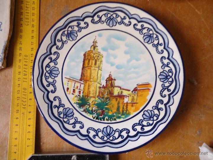 Antigüedades: plato ceramico valencia - platart . el miguelete - Foto 3 - 55073845