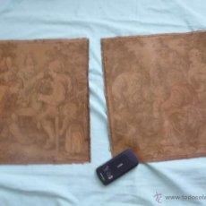 Antigüedades: PEQUEÑOS TAPICES..PAREJA... Lote 55080104