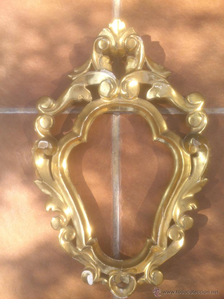antiguo marco de madera tallada decorado pintad - Comprar Marcos ...
