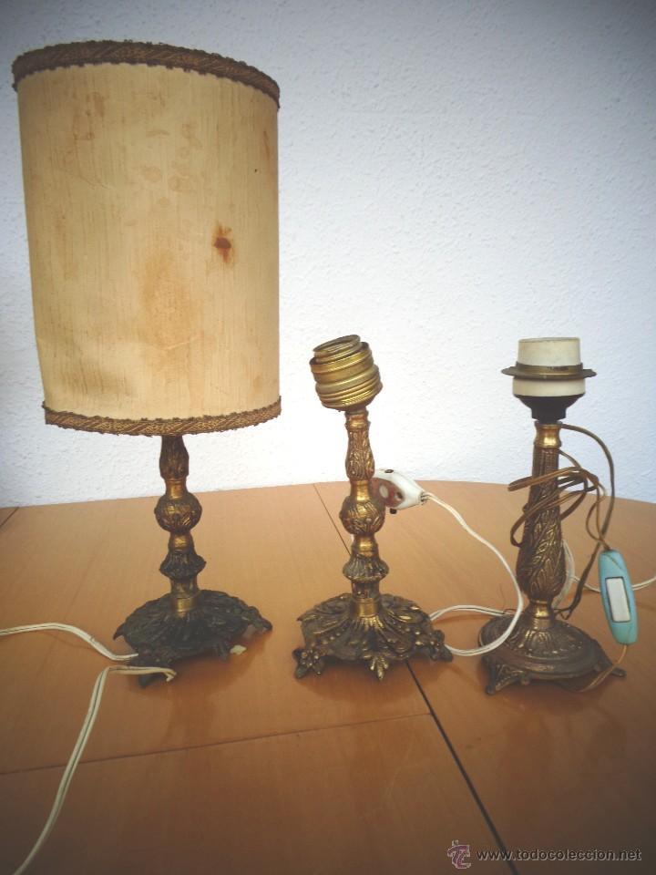 3 pies de lampara de mesa bronce para rest comprar - Piezas para lamparas ...