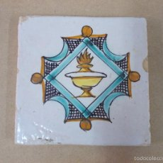 Antigüedades: ANTIGUO AZULEJO , BALDOSA DE MUEL S XVIII. Lote 55096978