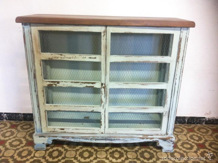 Antiguo aparador fresquera mueble c nsola tela vendido - Muebles antiguas de segunda mano ...