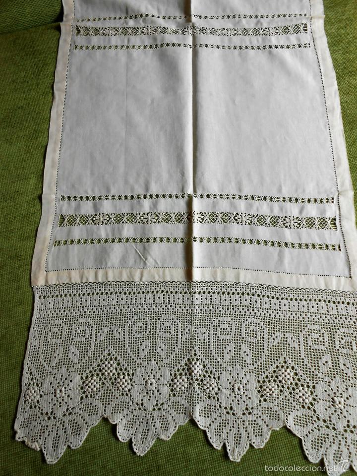 Precioso panel cortina lino beige comprar cortinas antiguas en todocoleccion - Cortinas lino beige ...