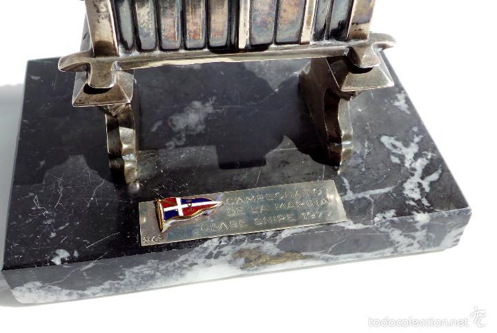 Antigüedades: HÓRREO GALLEGO TIPO TROFEO REALIZADO DE FORMA ARTESANAL EN PLATA DE LEY. CAMPEONATO DE MARINA- - Foto 4 - 55137179
