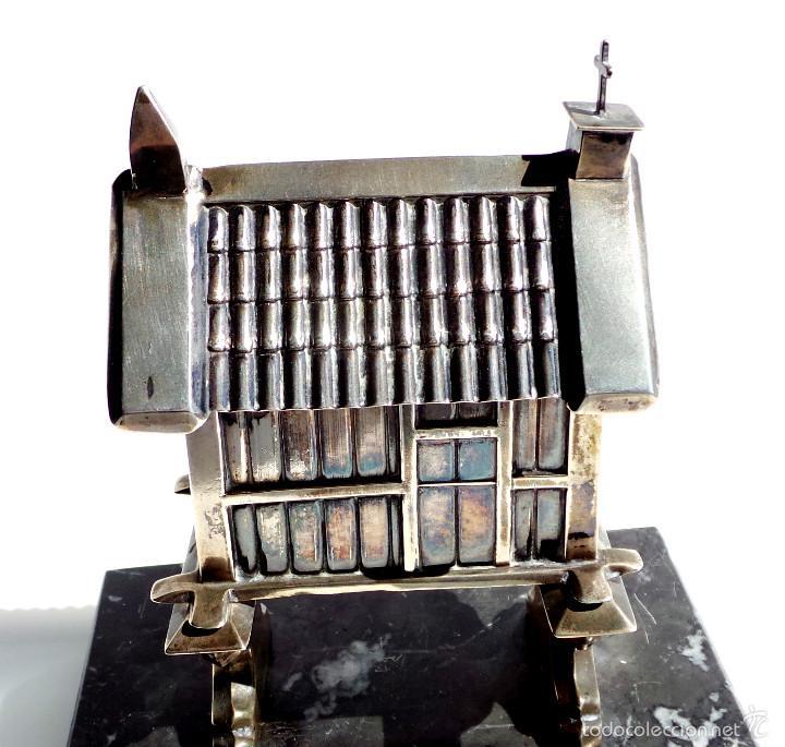Antigüedades: HÓRREO GALLEGO TIPO TROFEO REALIZADO DE FORMA ARTESANAL EN PLATA DE LEY. CAMPEONATO DE MARINA- - Foto 5 - 55137179