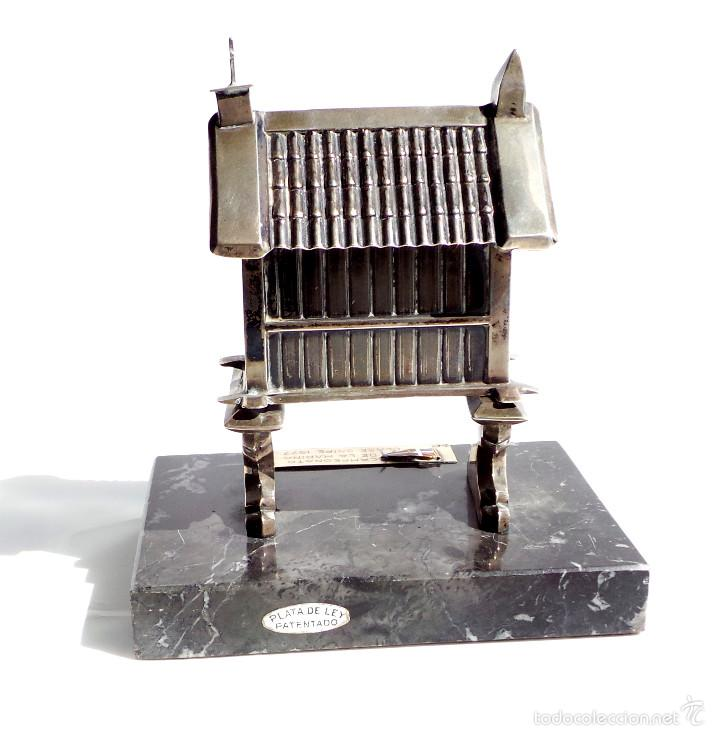 Antigüedades: HÓRREO GALLEGO TIPO TROFEO REALIZADO DE FORMA ARTESANAL EN PLATA DE LEY. CAMPEONATO DE MARINA- - Foto 8 - 55137179