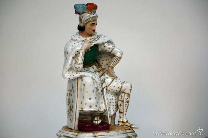 Antigüedades: Pareja de figuras de Porcelana Viejo París - Foto 3 - 55140166