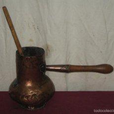Antigüedades: CHOCOLATERA DE COBRE CON SU PALO... XIX. Lote 55141029